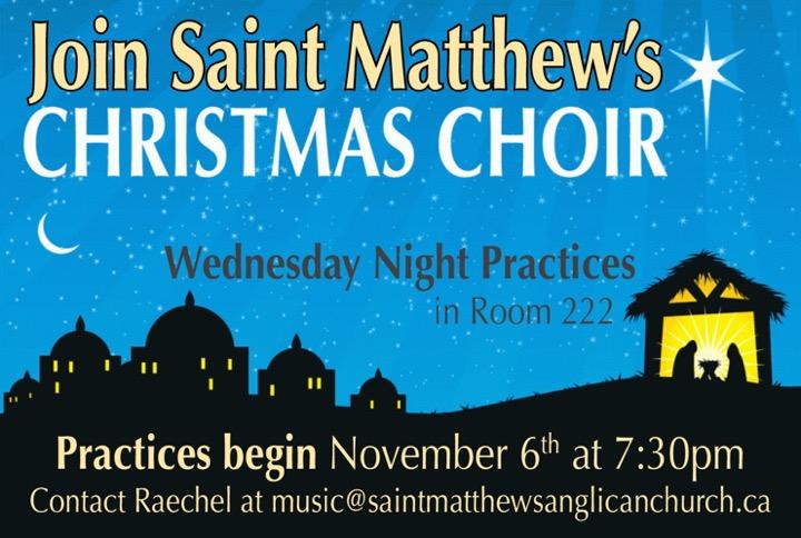 Christmas Choir Practice @ Room 222 – Saint Matthew's